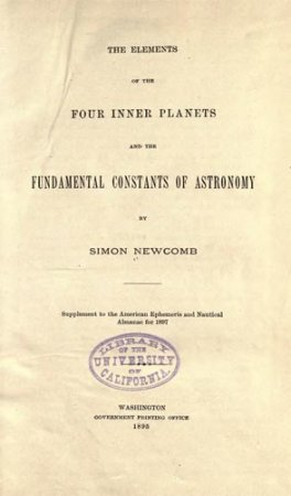 The Elements of the Four Inner Planets and the Fundamental Constants of Astronomy