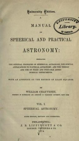 Manual of Spherical and Practical Astronomy