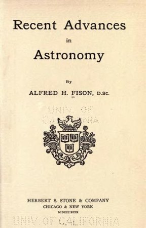 Recent Advances in Astronomy