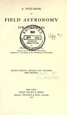 A Text-Book of Field Astronomy
