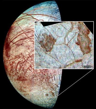 Океан на спутнике Юпитера Европе очень богат кислородом